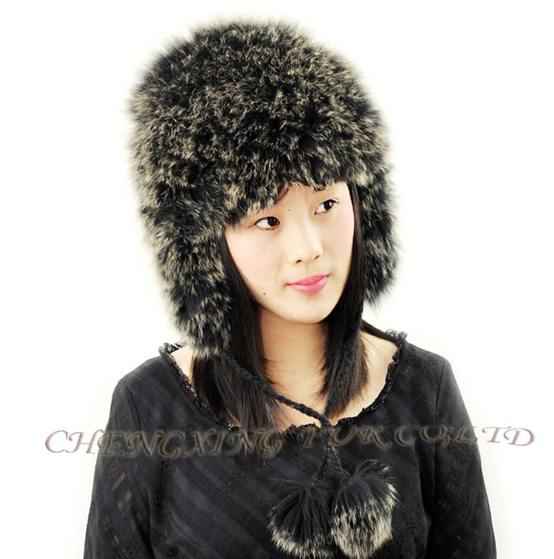 52cf134d94b Get Quotations · CX-C-49C Women Tops Animal Hats Knit Fox Fur Hats