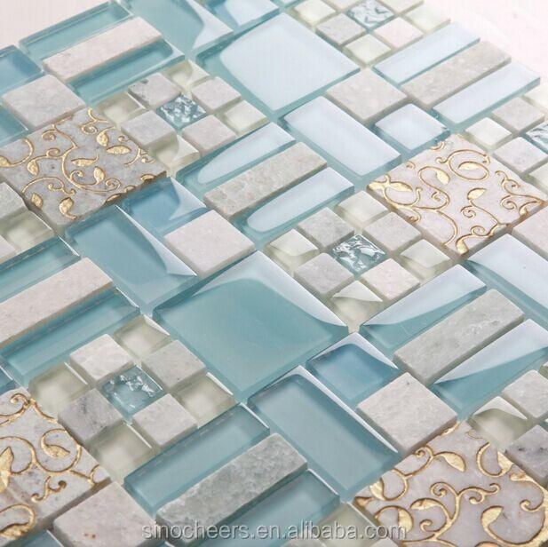 Mattonelle di mosaico di vetro di cristallo cucina for Piastrelle paraspruzzi cucina