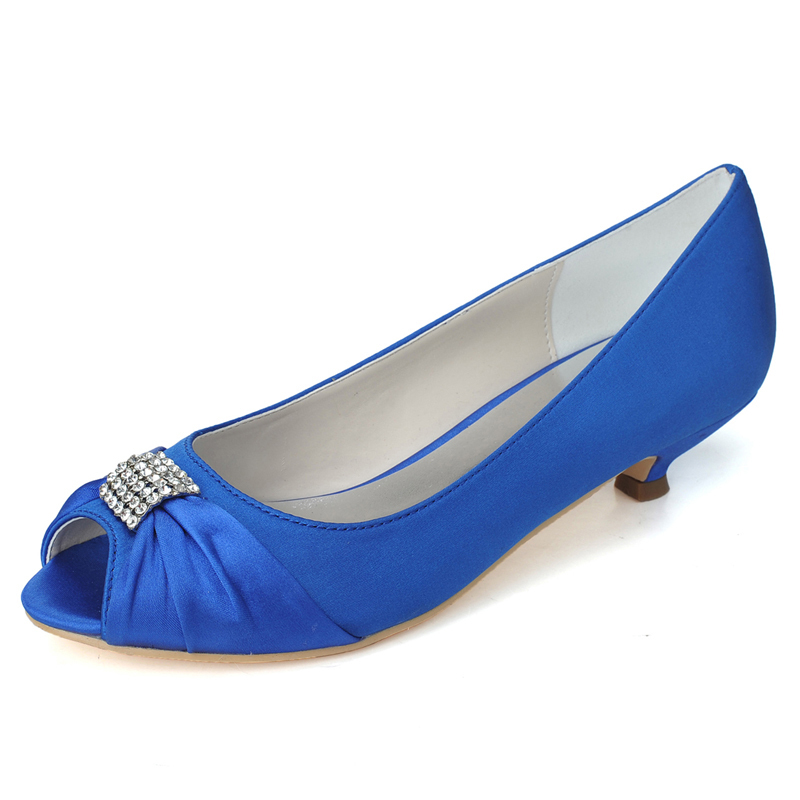 09a2d7f3d4e Get Quotations · P25 Royal Blue High Quality 2015 New Peep Toe Low Heels Women  Shoes Brand New Shoes