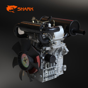 SHARK 18HP 4 stroke engines for sale two cylinder water cooled diesel marine engine