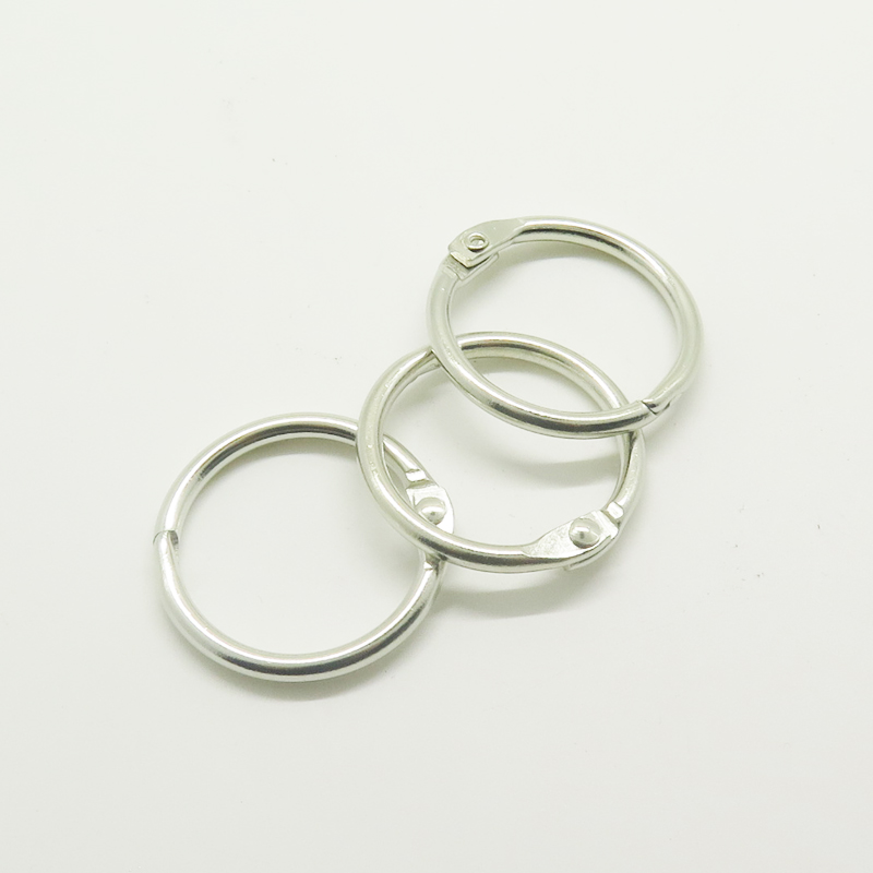 Metal Book Clip 15mm Snap Loose Leaf Binder Ring for DIY