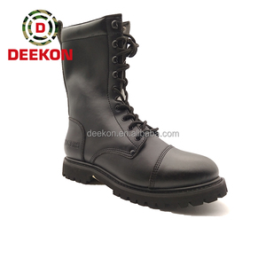 High Quality Goodyear Welt Black Military Boot