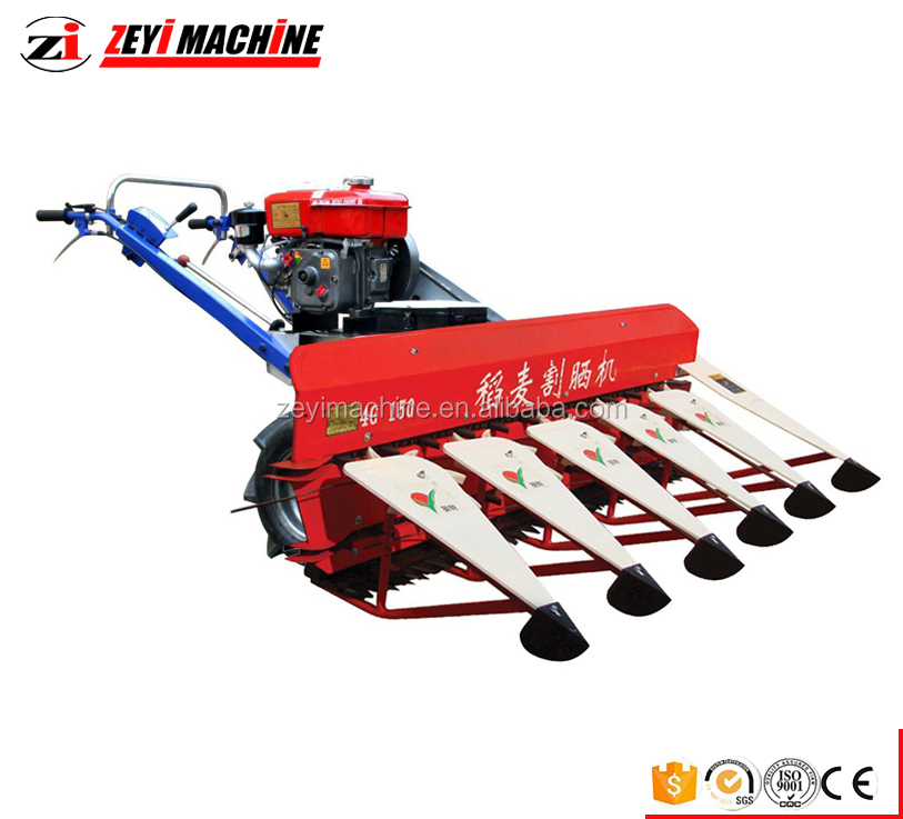new style reaper binder / walking type wheat and rice reaper / mini combine harvester