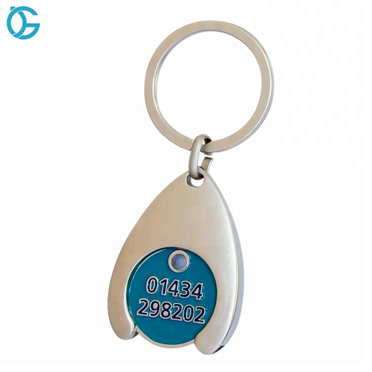 Metal Type and Key Ring Type trolley coin stamping key rings