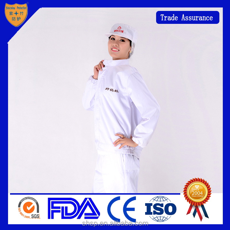 Food protection uniform/white suit / food factory work clothes