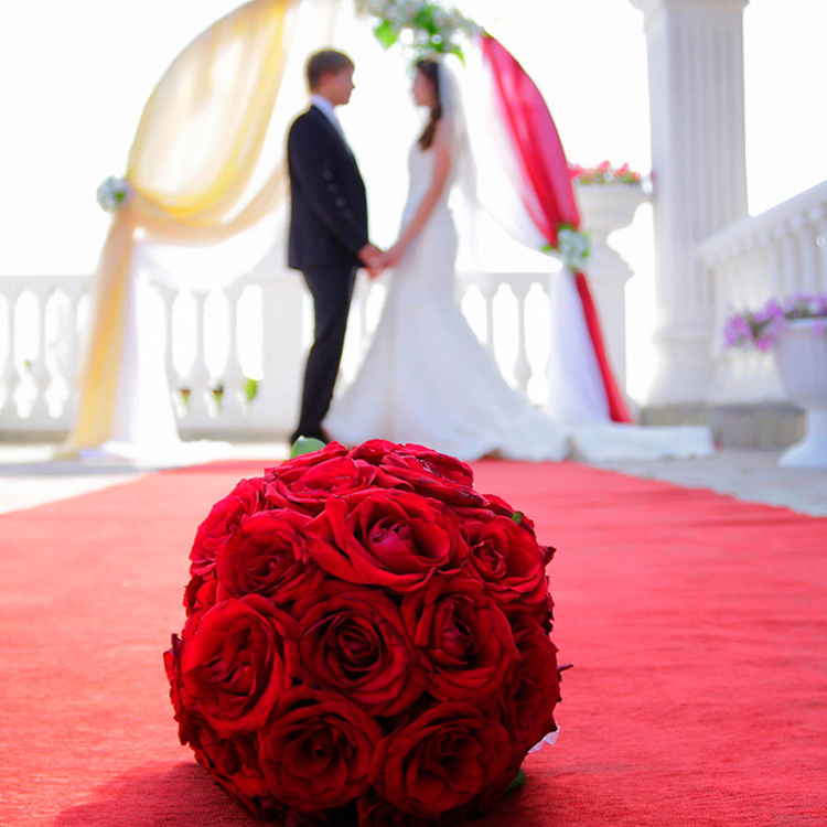 Machine-made red carpet wedding aisle runner carpet,red carpet runner