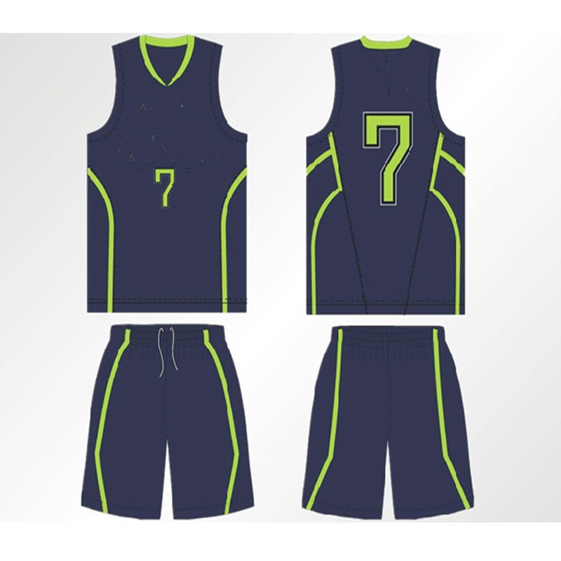 Simple Design Sublimated Basketball Jersey With Color