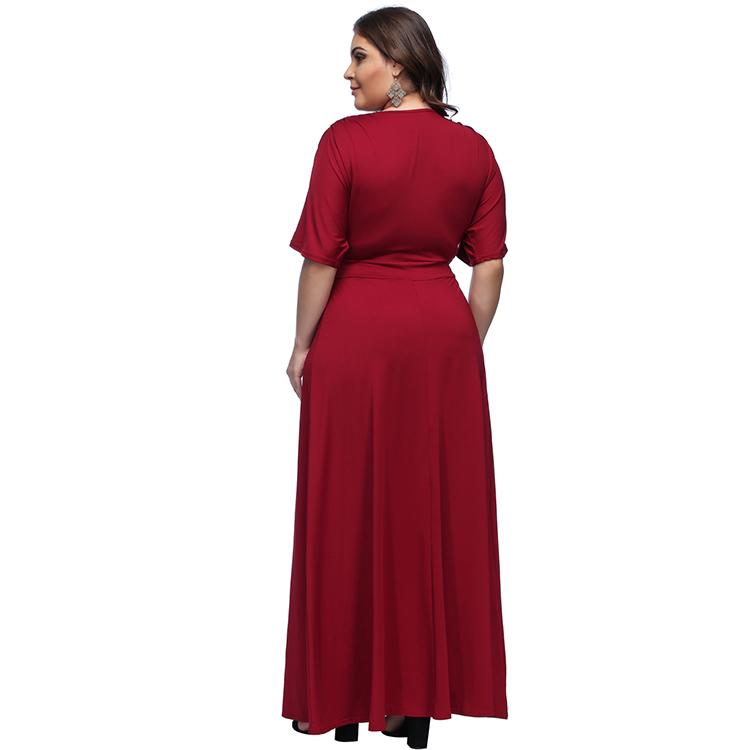 1c1b6cc4260 Off-Shoulder Women Plus Size Bud Dress Solid Formal Office Dresses For Women