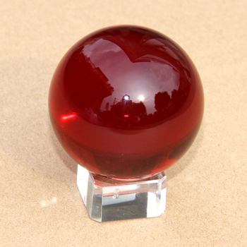 Glass Crystal Spheres Amber Crystal Ball Size 40 With Red Gift Box - Buy  Personalized Crystal Ball,Decorative Crystal Ball,Crystal Ball 40mm Product