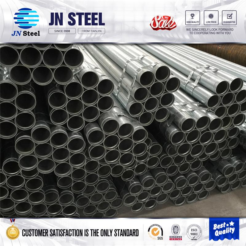hot dip galvanized steel pipe , zinc coated round pipe for water pipe service