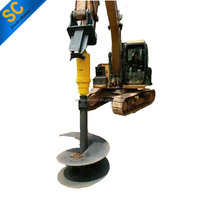 tractor post hole digger Earth Auger SC25000 For 15T-22T Excavator