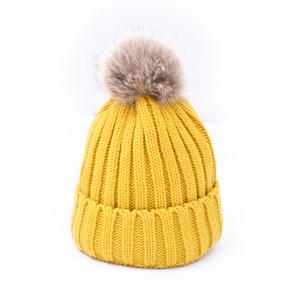 d67422b8dc5 Fur Pom Pom Beanie Hats