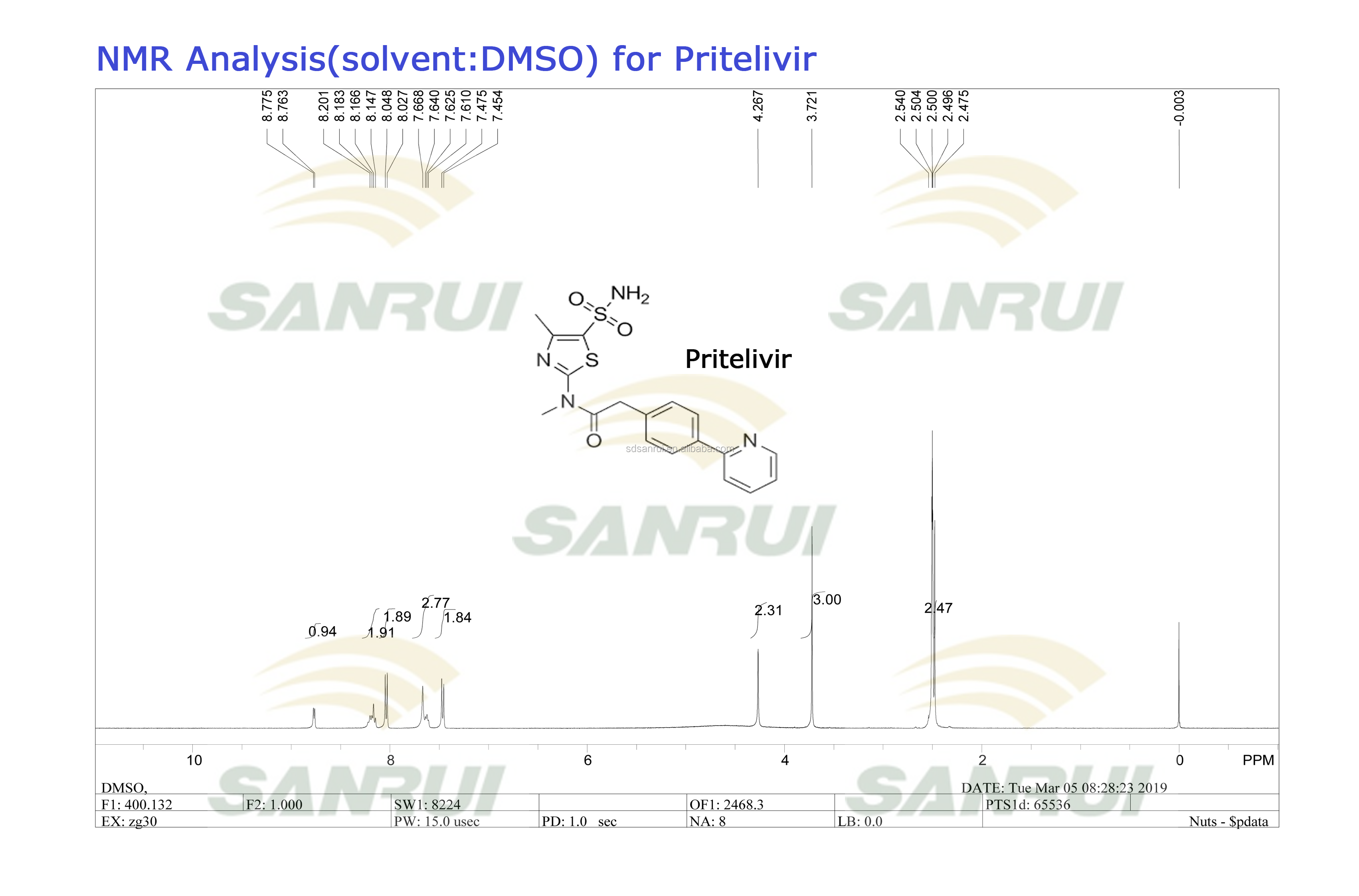 Sunthetic Drug Pritelivir/ Bay-57-1293 Cas 348086-71-5 For Research - Buy  Pritelivir,348086-71-5 Pritelivir,Synthetic Drug Pritelivir Product on