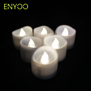 CR2032 Battery Power White Body Flickering Flameless Led Tea Light Candles