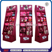 TSD-C551 plush toys display,floor stand cardboard tiers display stand, retail display solutions