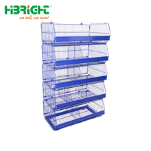 wire mesh stacking basket with wheels