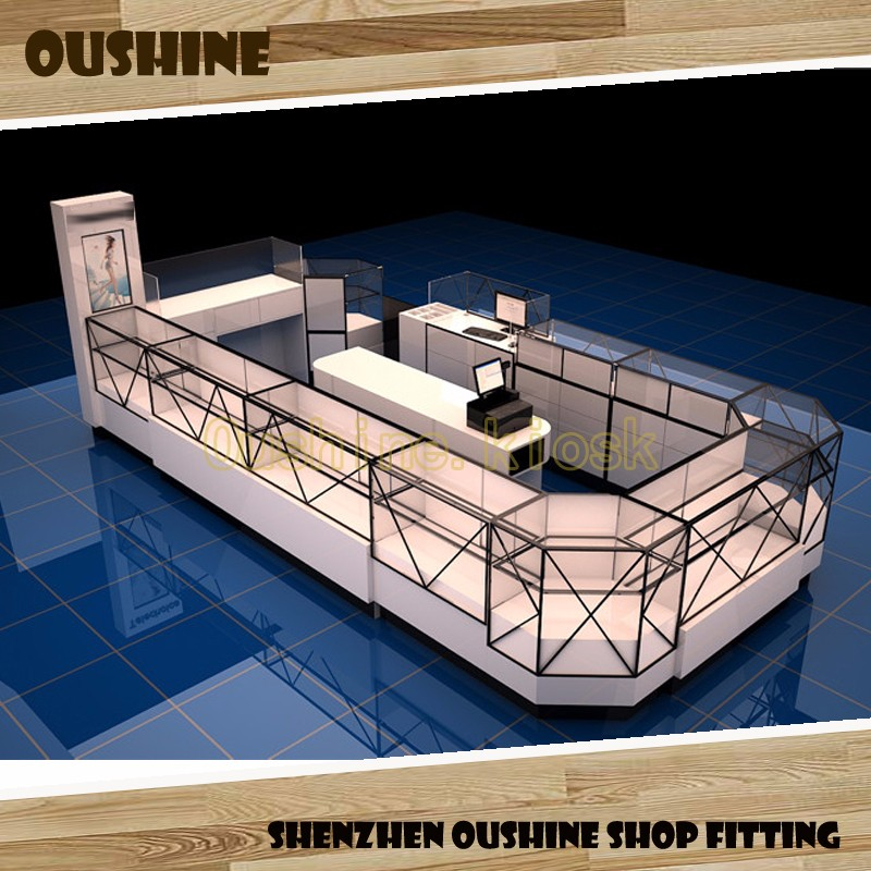 3d cell phone kiosk design for mobile shop counter design