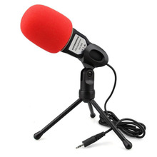Pro HD Audio Microphone With Desktop Tripod 3.5mm Audio Jack Condenser Microphone Mic For Chat QQ MSN SKYPE Singing Recording