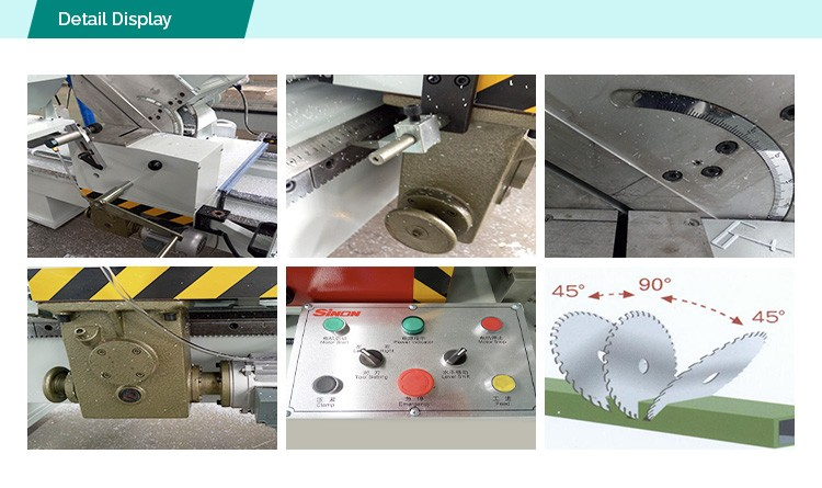 Double head cutting saw machine for PVC window and door