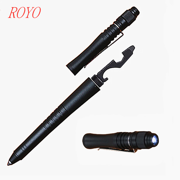 Multifunction stylus pen aircraft aluminium tactical pen Self-Defense tactical pen with led flashlight-B-2023