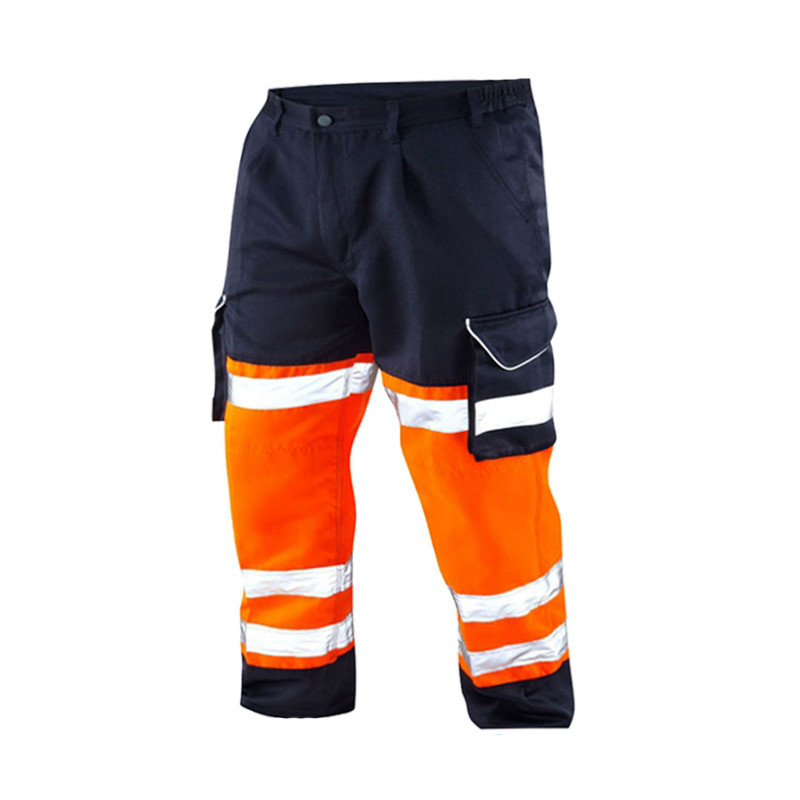shenzhen wholesale 3m reflective fluo <strong>orange</strong> high visibility trousers
