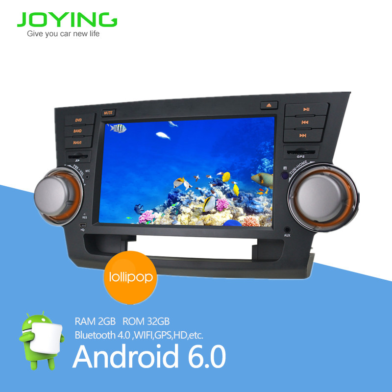 "4 quad core wifi 4g 8"" <strong>android</strong> 6.0 head unit touch screen dvd for <strong>toyota</strong> high lander"