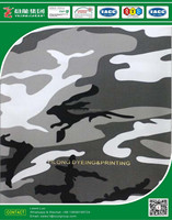 Snow camouflage made with polyester/cotton blended fabric for military clothing