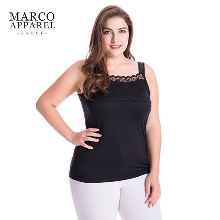4258180aea3a3a New Quality Women Plus Size Tank Top Customized Big Size Modal Stretch Lace  Camisole