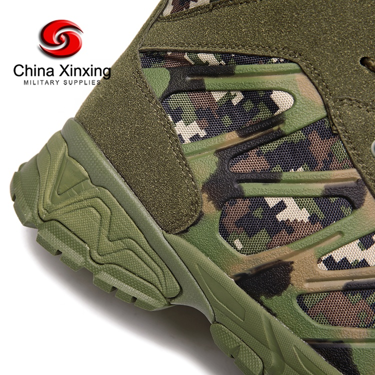 Xinxing Military Boots Camouflage Army Tactical Split Leather EVA Rubber Sole for Military Training Outdoor MB64