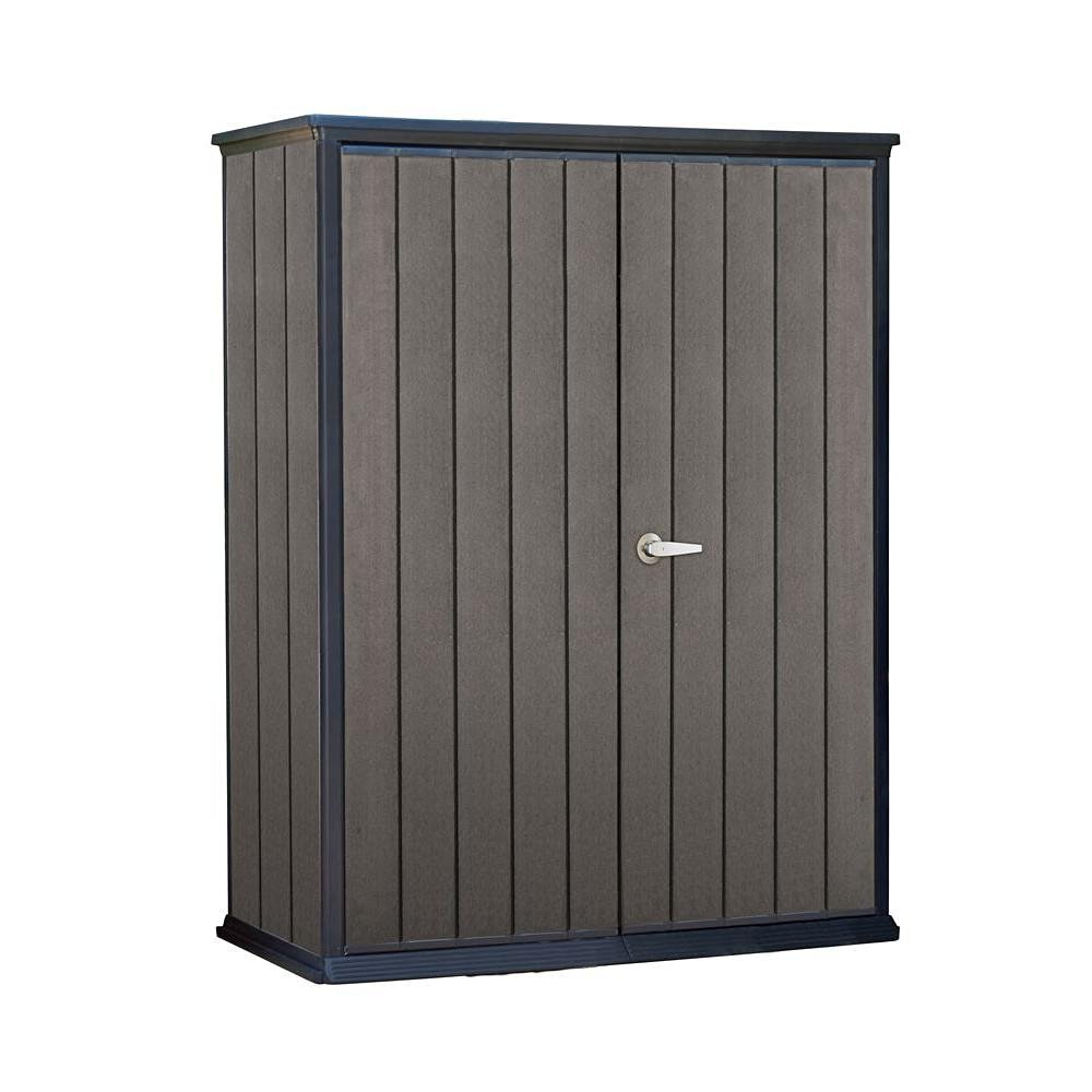 Keter Home Storage High Store 4.6 ft. x 2.5 ft. x 5.10 ft. Resin Vertical Storage Shed