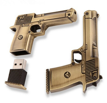 Hot Sale Gun Shape USB Flash Drive 16gb 32gb Creative Pendrive Memory Stick flash drive Thumb Gift