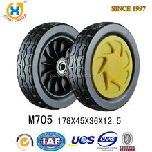 High Quality High Performance Strong 7 Inch PVC Lawn Mower Wheel