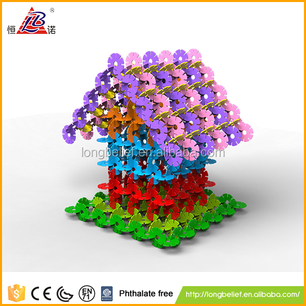 Building blocks 3D snow puzzle intelligent toy mini building blocks