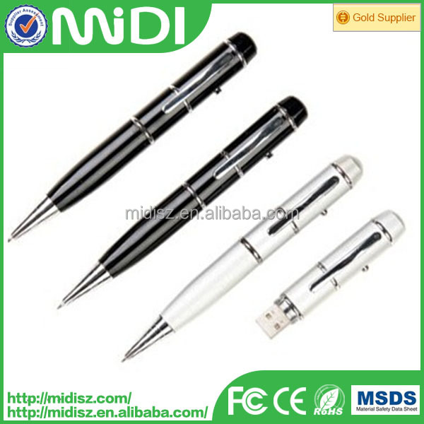 promotion metal usb pen drive ball pen with usb