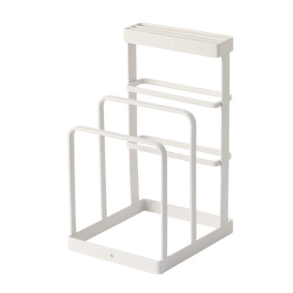 YChoice Rack Decor Japanese-Style Knife Holder Kitchen Supplies Racks Knife Holder Cutting Board Rack Multi-Function Kitchen Knife Rack Creative Simplicity (Color : White)