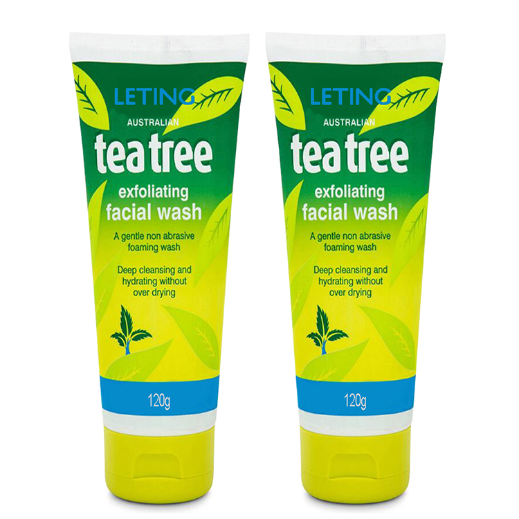 Free sample supported exfoliating tea tree face wash for dry skin