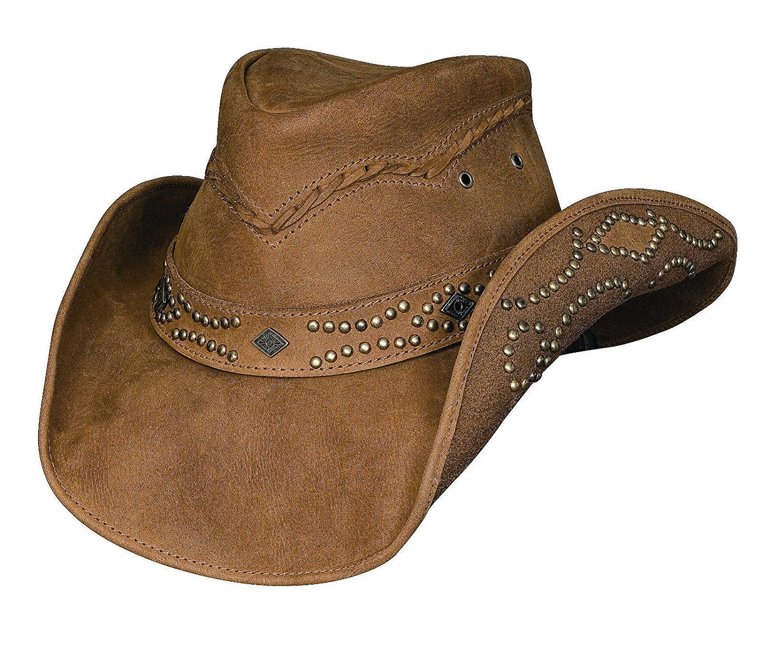 NASIR ALI Head N Home Brown Leather Hand Crafted Style Pure Leather HAT