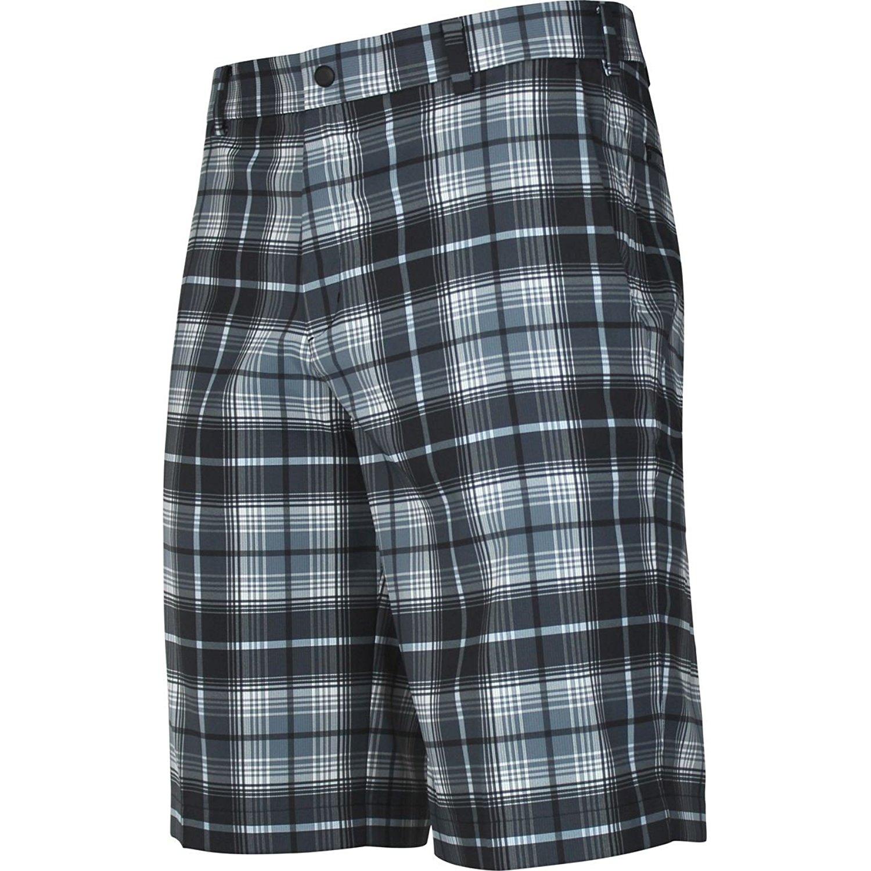 e31e51fd3837 Get Quotations · Nike Mens Flat Front Golf Plaid Shorts Blue