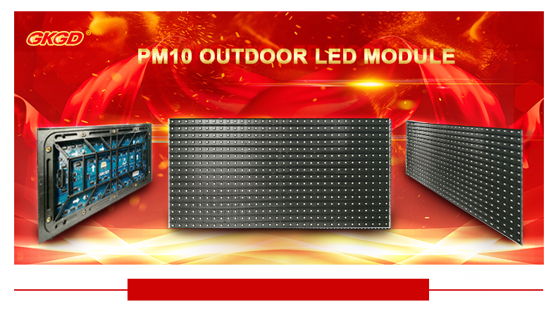 Outdoor Comercial Iklan P10 Tetap Layar LED LED Sign Display