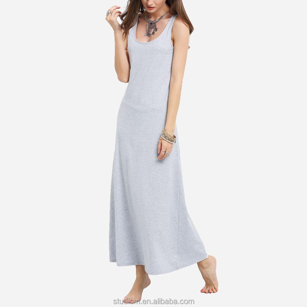 9ac8e029d vestidos largos casuales de algodon