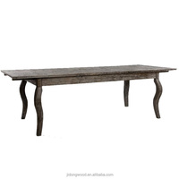 European style antique wood dining table