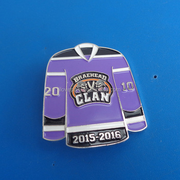 089e99543 Metallic Hockey Jersey Shaped Souvenir Pin - Buy Clan Uk Hockey Club ...