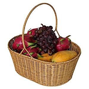 YZL/ Rattan basket/picnic basket/baskets/picking baskets storage baskets/bamboo basket basket/food/kitchen/bread basket/Wicker baskets , yellow