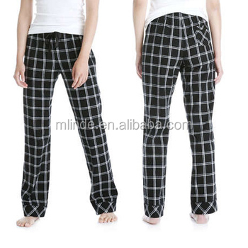 7cbc1236e14 Lady Comfort Nightwear Plaid Sleep Pant Women s Long Pj Bottoms 100% Cotton  Super Soft Flannel