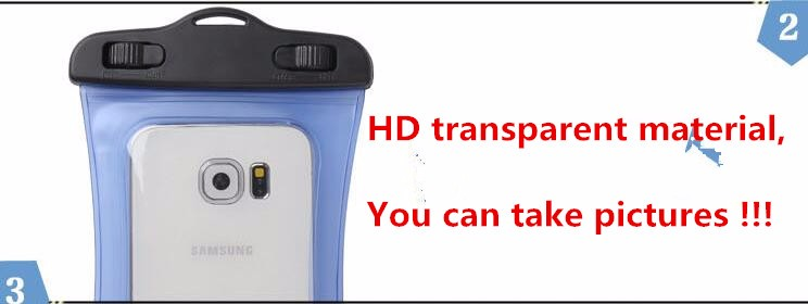 HAISSKY sports PVC transparent mobile phone waterproof bag for iphone 7/7 plus ,6/6 plus