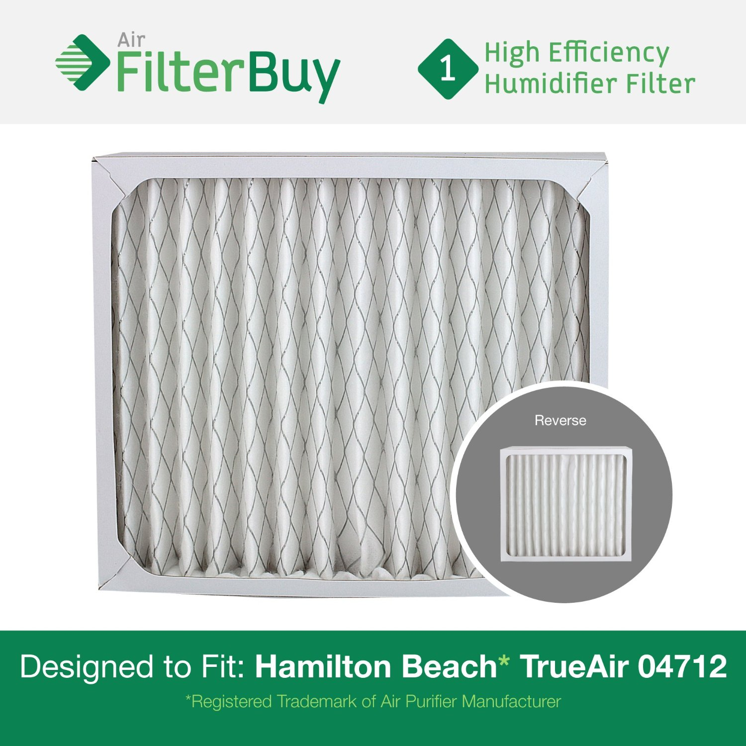 Get Quotations · FilterBuy 04712 Hamilton Beach True Air Compatible  Replacement Air Purifier Filter. Designed by FilterBuy to
