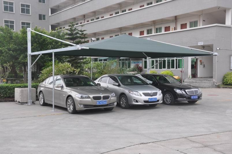 Outdoor rainproof carport tent car parking tent car garage for Garage per 2 auto personalizzate