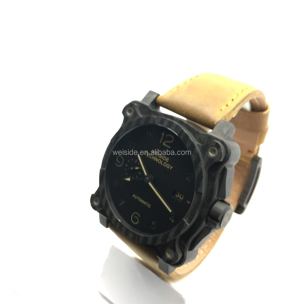 China Manufacturer WSD-604 watches men custom logo/OEM new design forged carbon fiber watch/japan style watch