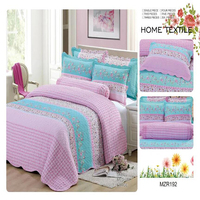 Wholesale pure cotton beautiful pattern designs for printed free bedspread samples