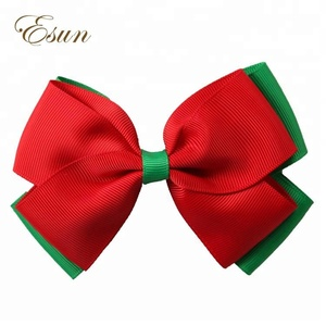 Different styles 4 inch kids christmas tree hair bows clips